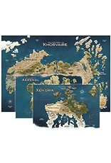 """Dungeons & Dragons 30"""" x 42"""" Vinyl Game Mat - Eberron, Continent of Khorvaire Map"""