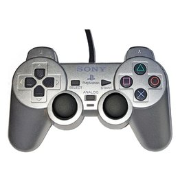Playstation 2 PS2 Playstation 2 Dualshock 2 Controller Silver (OEM)