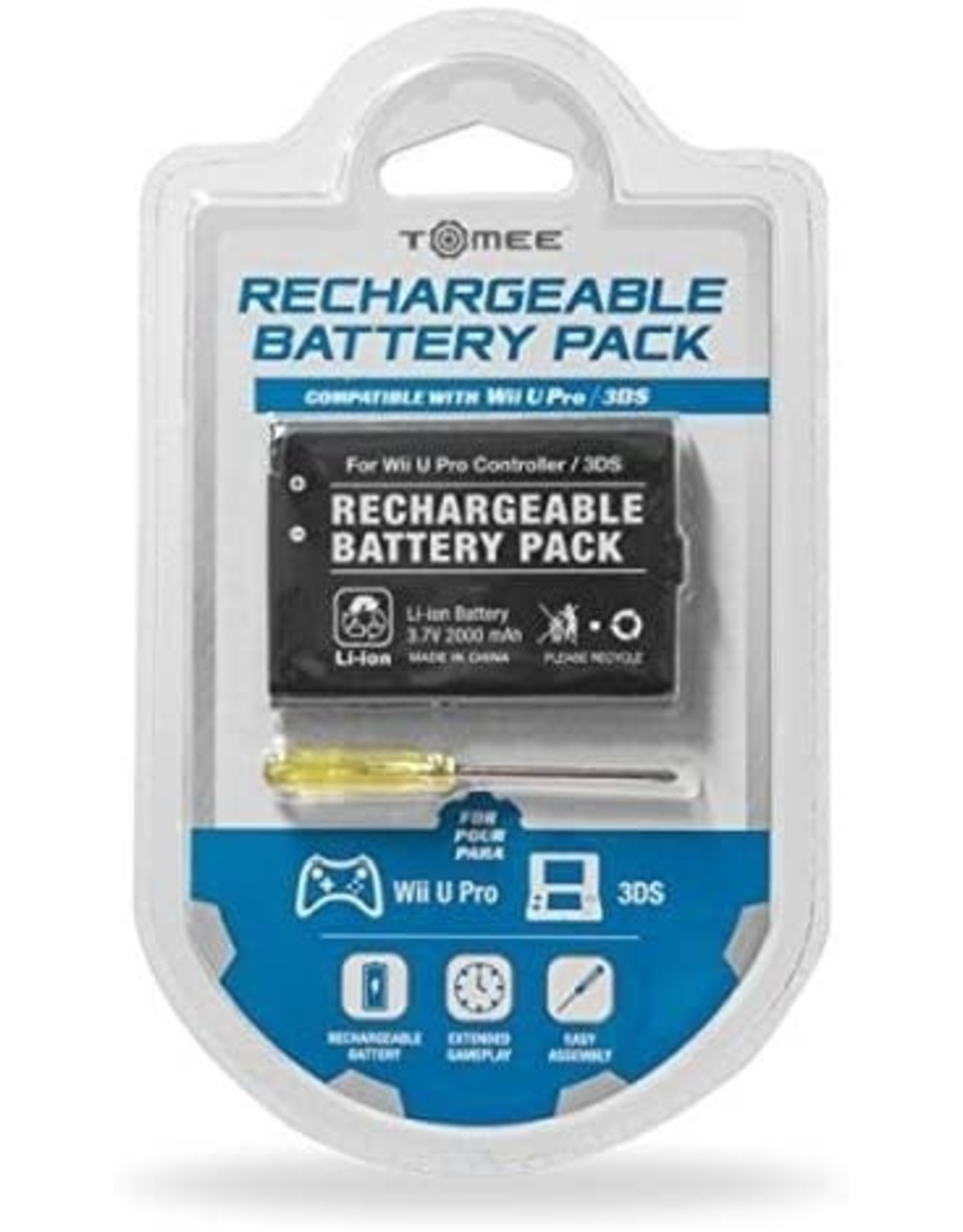 Nintendo DS Nintendo 3DS Wii U Pro Controller Replacement Battery (Tomee)