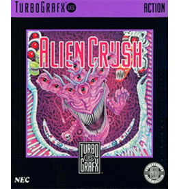 TurboGrafx-16 Alien Crush (Case & Manual)