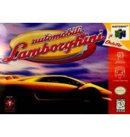 Nintendo 64 Automobili Lamborghini (CiB, No Cart Insert, Label Damage)