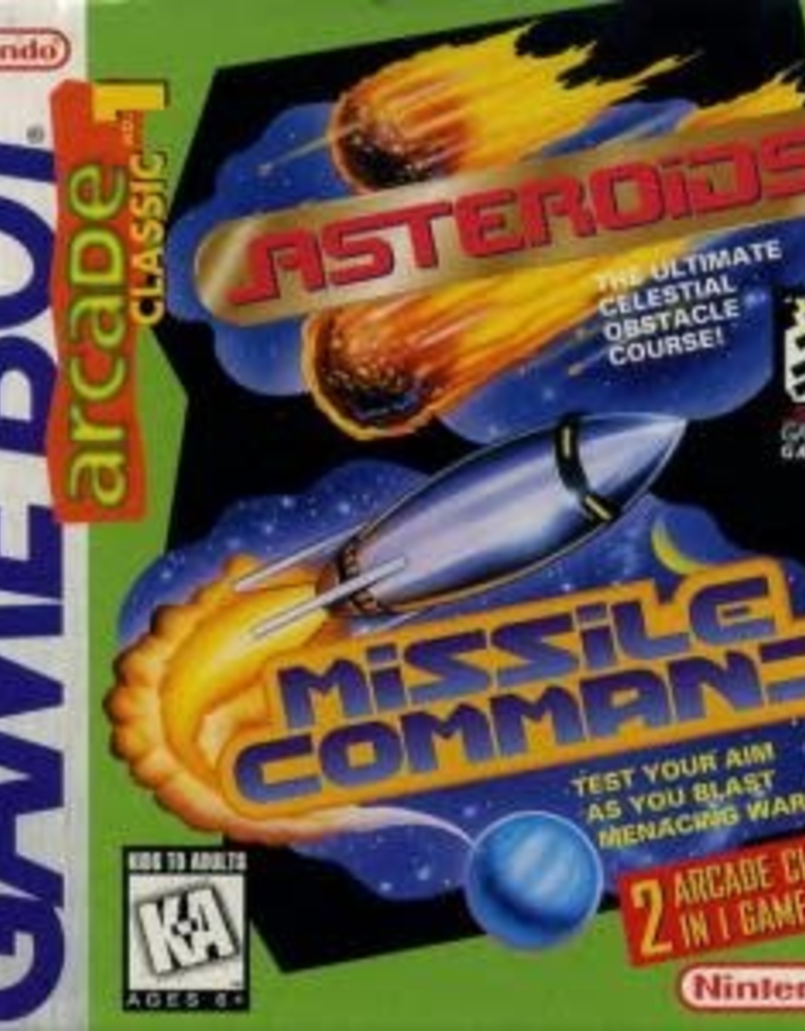 GameBoy Arcade Classic: Asteroids and Missile Command (Cart Only)