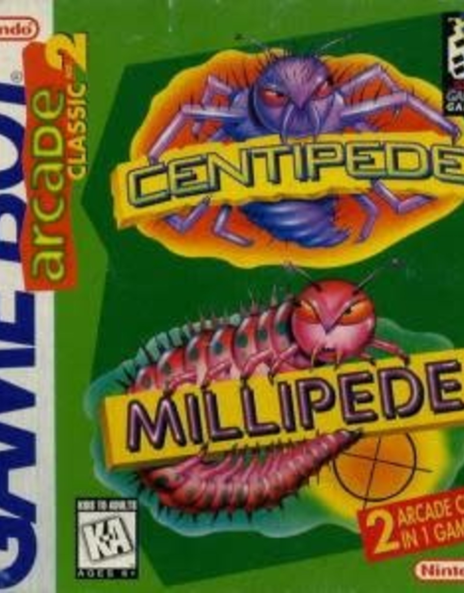 GameBoy Arcade Classic 2: Centipede and Millipede (Cart Only)