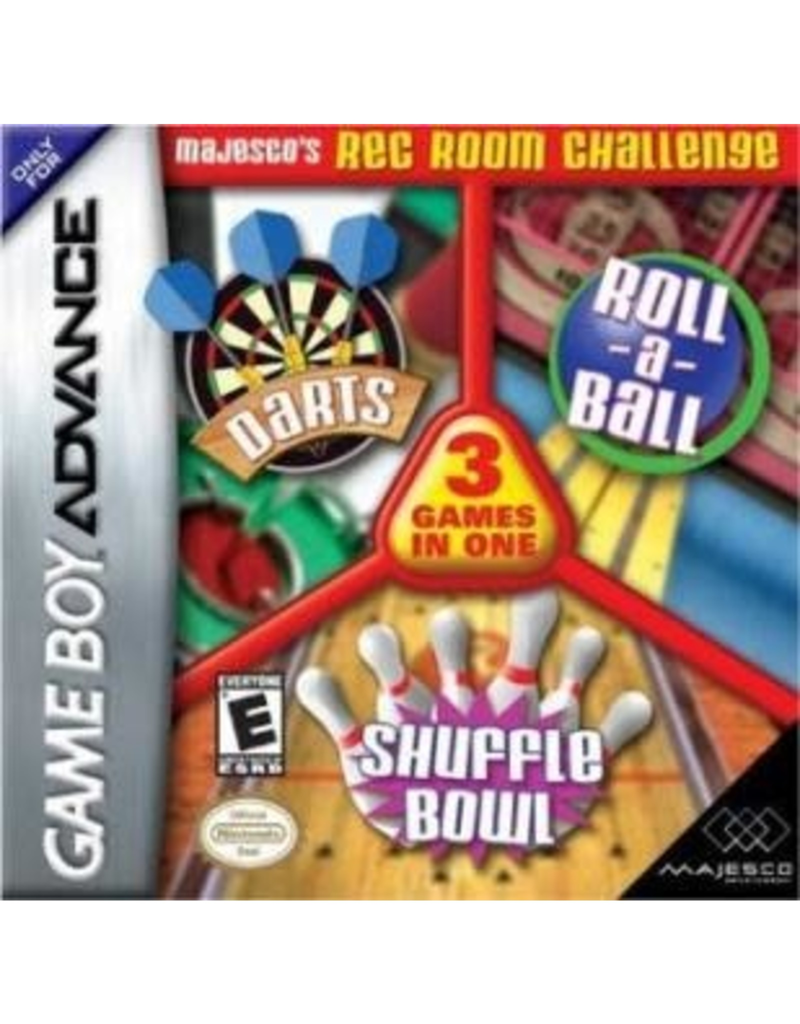 GameBoy Advance 3-in-1 Rec Room Challenge (Cart Only)
