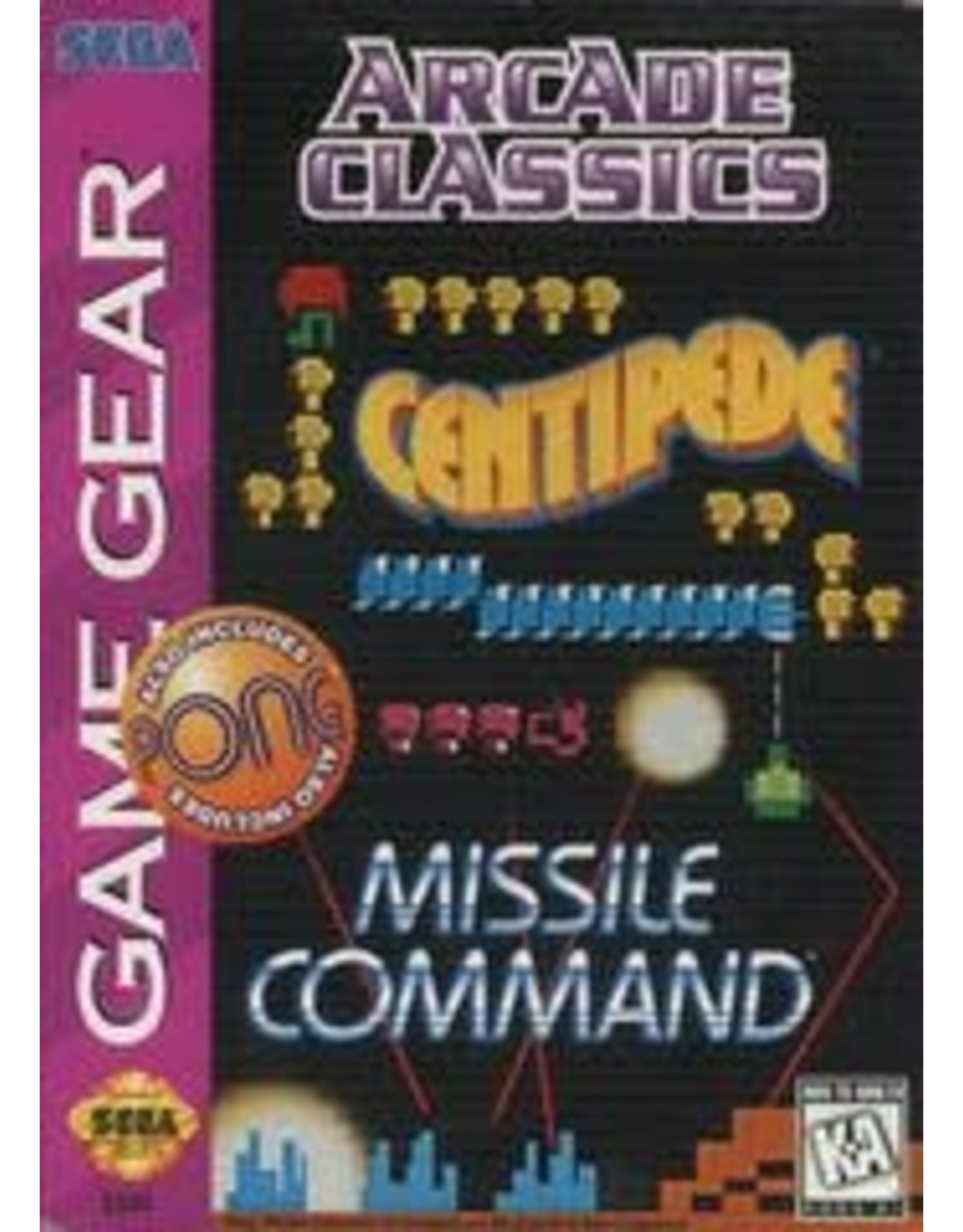 Sega Game Gear Arcade Classics (Cart Only)