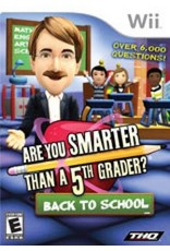 Wii Are You Smarter Than A 5th Grader? Back to School (CiB)