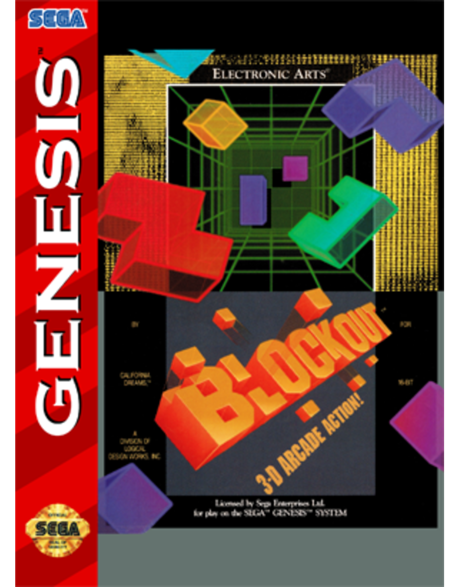 Sega Genesis Block Out (Cart Only)
