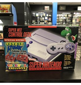 "Super Nintendo SNES Super Nintendo ""New Style Super NES"" Console Toy's R Us Exclusive Tertis Attack Bundle (CiB)"