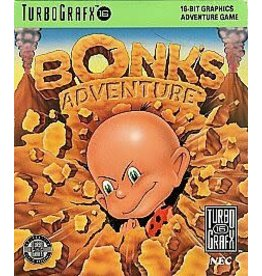TurboGrafx-16 Bonk 1 Bonk's Adventure (Case and Manual)