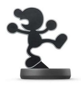Mr. Game & Watch Amiibo (Smash,  Complete with all 4 Attachments, Used)