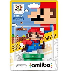 Nintendo 8 Bit Mario Amiibo Modern Color (30th Anniversary, New)