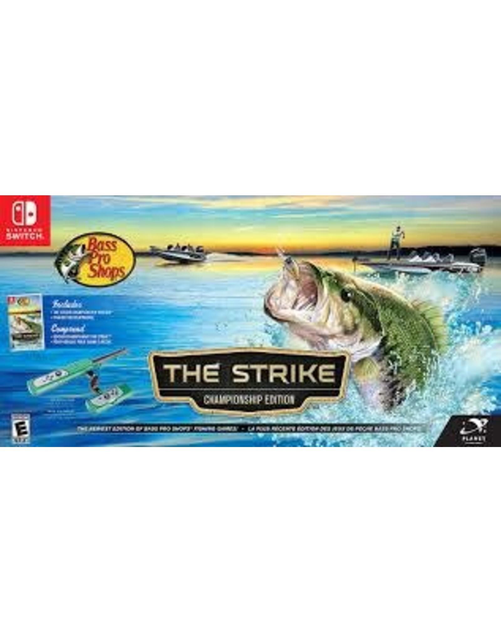 Nintendo Switch Bass pro Shop The Strike bundle Includes Rod