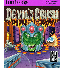 TurboGrafx-16 Devil's Crush (Cart & Manual)