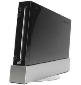 Wii Black Nintendo Wii Console with White Remote and Nunchuk (No Gamecube Compatibility)
