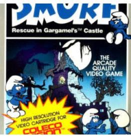 Colecovision Smurf: Rescue in Gargamel's Castle (CiB, Label Damage on Cart)
