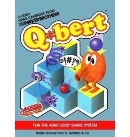 Atari 5200 Q*bert (Cart Only, Damaged Label)