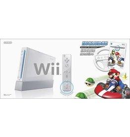 Wii White Nintendo Wii System (Mario Kart Bundle, CIB)