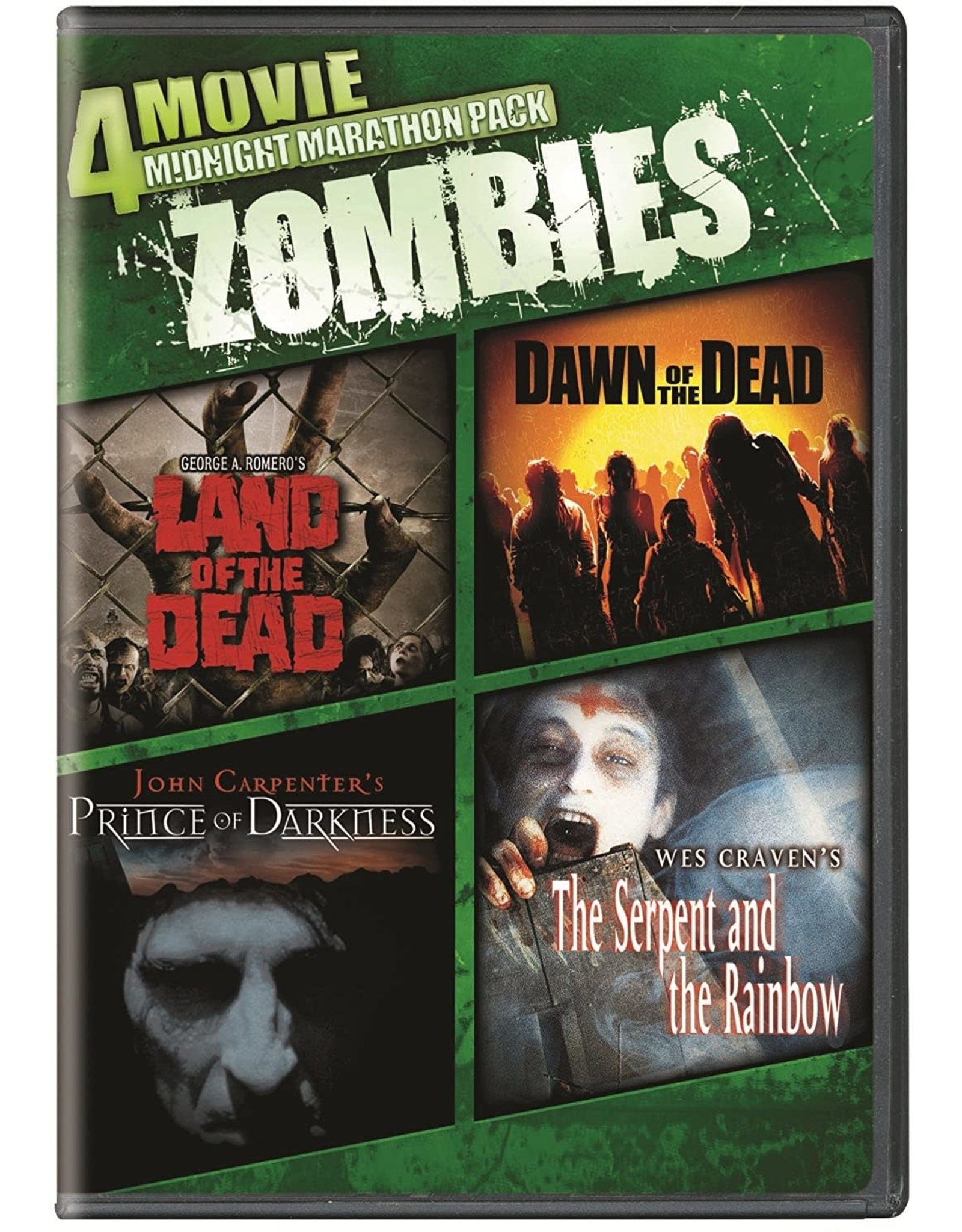 Horror Cult 4 Movie Midnight Marathon Pack - Zombies