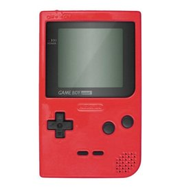 GameBoy Game Boy Pocket (Red, Brand New Screen, Mismatched Door)