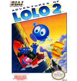 NES Adventures of Lolo 2 (Cart Only, Discoloured Cart, Writing on Cart)