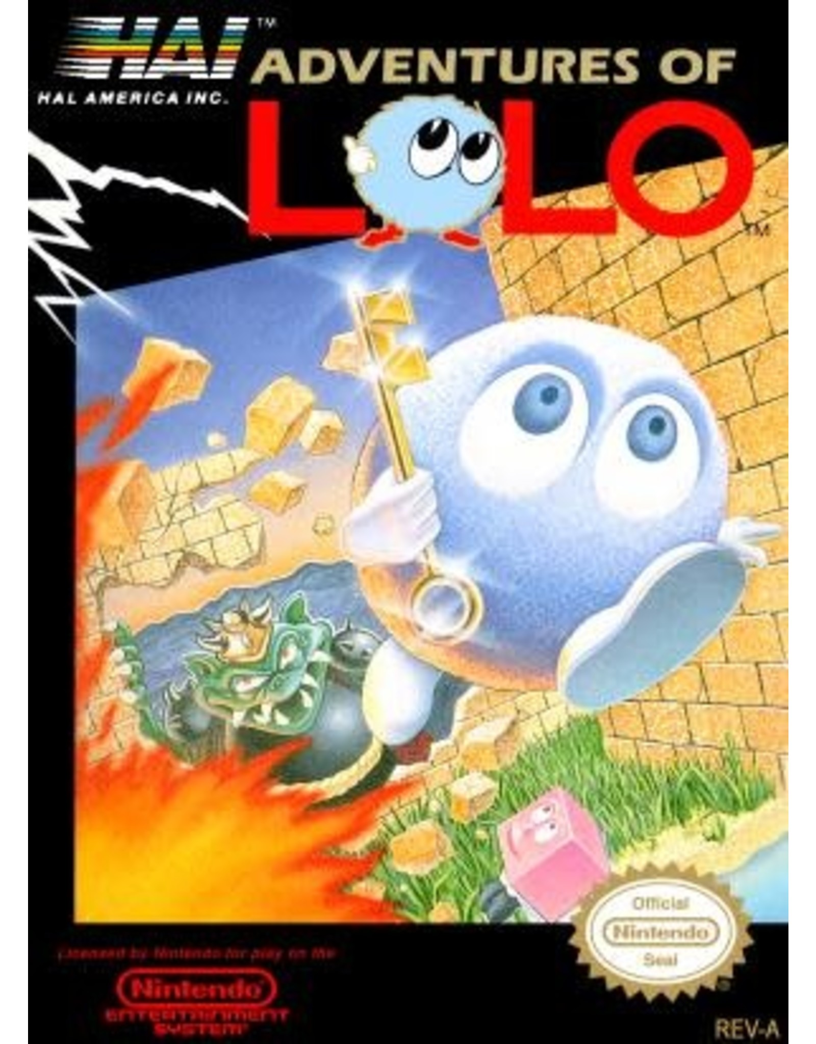 NES Adventures of Lolo (Cart Only, Writing on Cart)