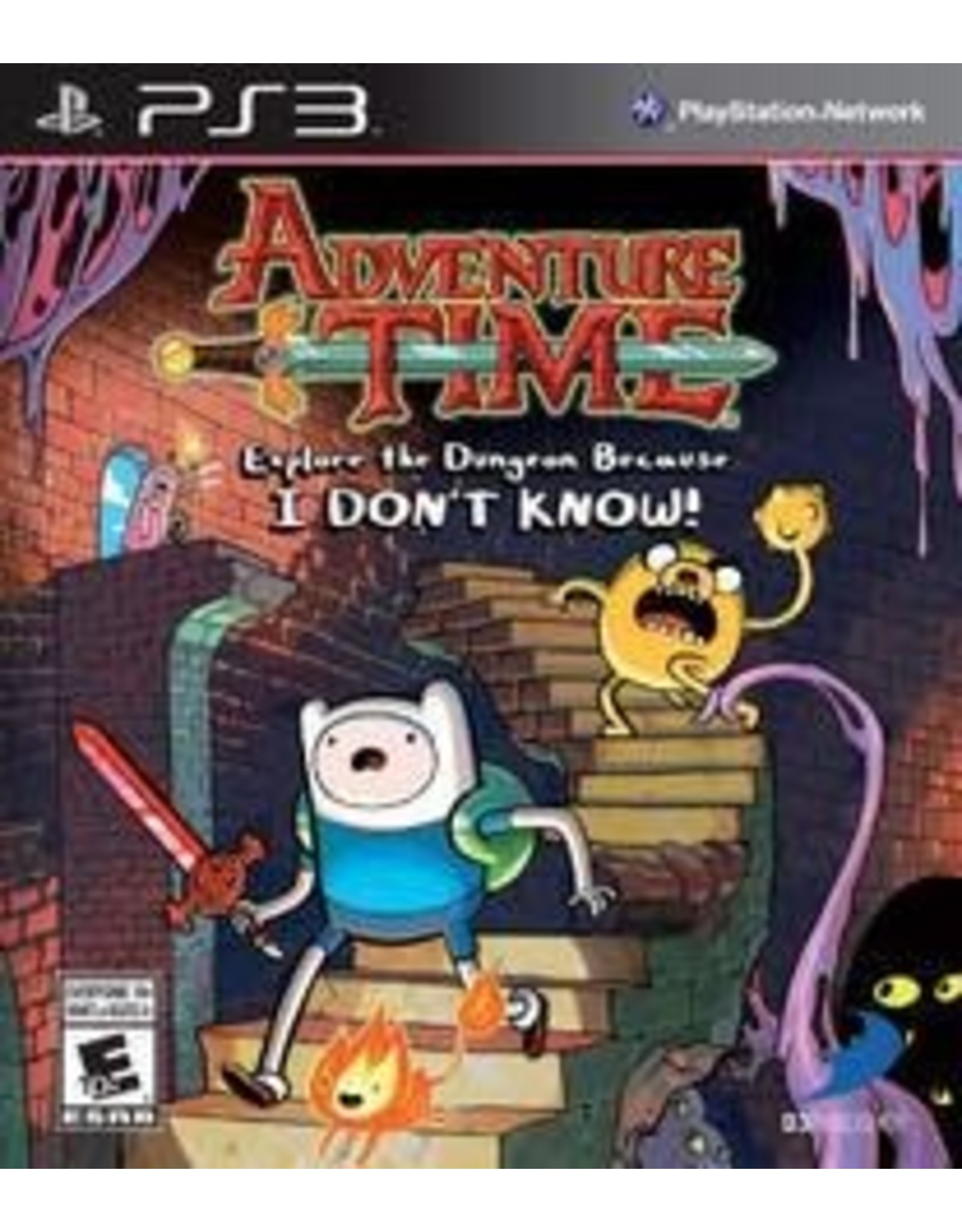 Playstation 3 Adventure Time: Explore the Dungeon Because I Don't Know (No Manual)