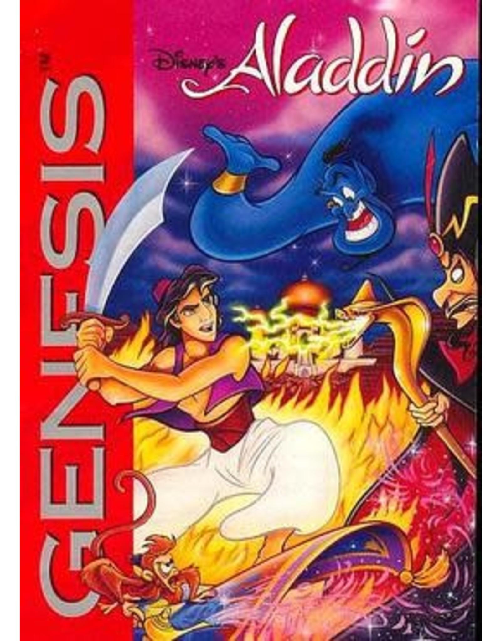 Sega Genesis Aladdin (Damaged Label, Cart Only)