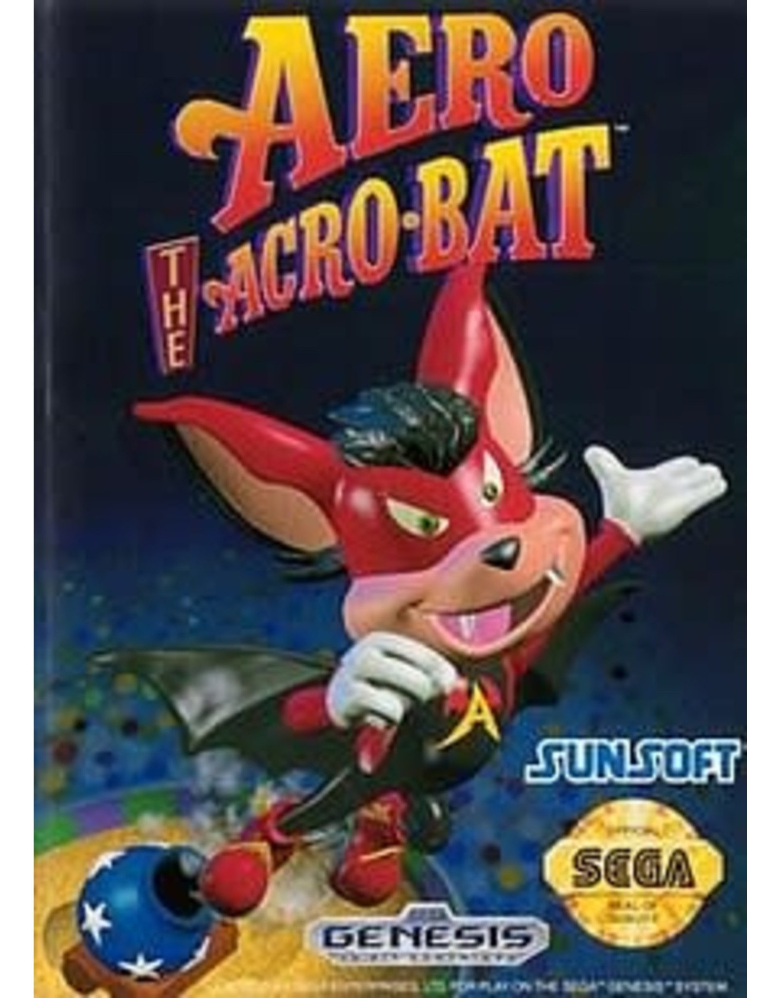 Sega Genesis Aero the Acro-Bat (Boxed, No Manual)