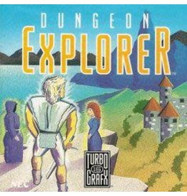 TurboGrafx-16 Dungeon Explorer (Cart & Manual)