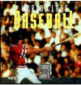 TurboGrafx-16 World Class Baseball (Case & Manual)