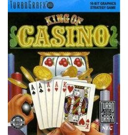 TurboGrafx-16 King of Casino (Case & Manual)