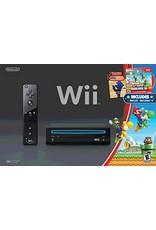 Wii Black Nintendo Wii System (New Super Mario Bros. Bundle, CIB)