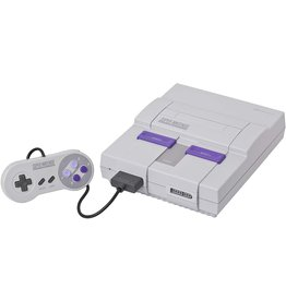 Super Nintendo SNES Super Nintendo Console + Super Mario World (Yellowed, Damaged Body, USED)