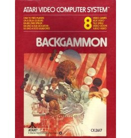 Atari 2600 Backgammon (Cart Only, Text Label, No End Label)