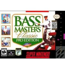 Super Nintendo Bass Masters Classic Pro Edition (Damaged Label, Cart Only)