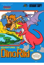 NES Adventures of Dino Riki (CiB, Damaged Box, Label and Manual)