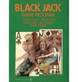 Atari 2600 Blackjack (Cart Only, Text Label, Damaged Label, No End Label)