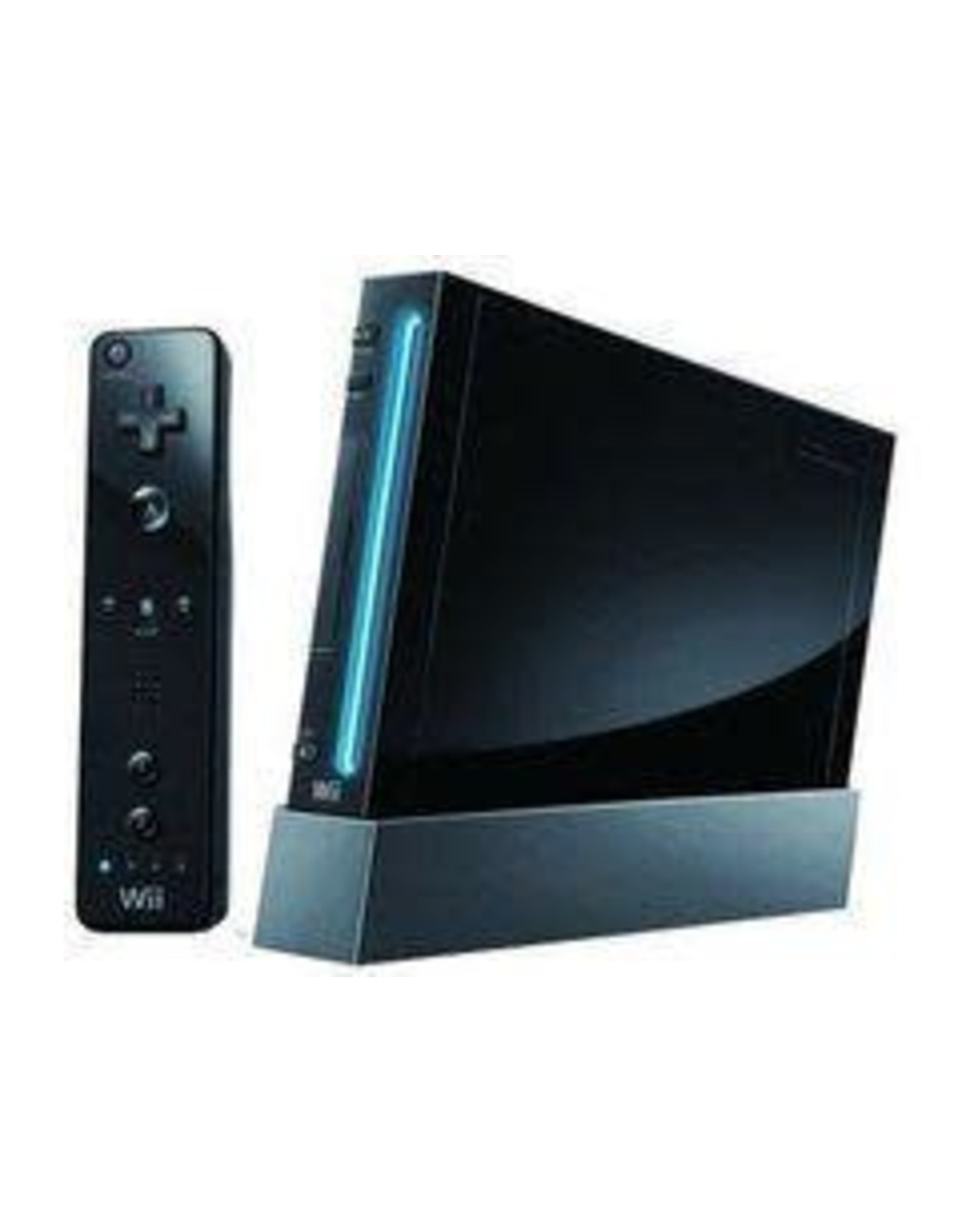 Wii Black Nintendo Wii System (None Backwards Compatability)