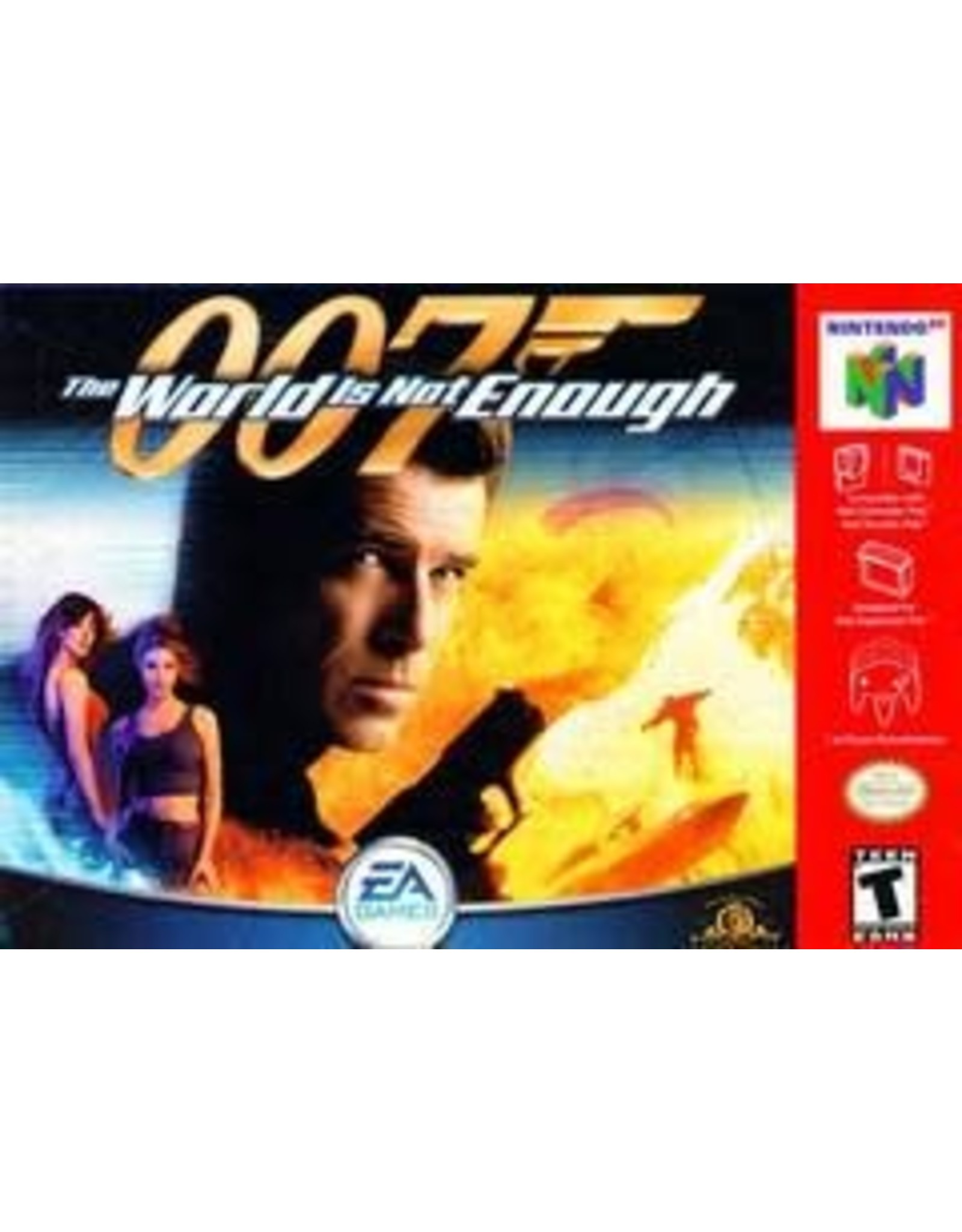 Nintendo 64 007 World Is Not Enough (Cart Only,Damaged Label)