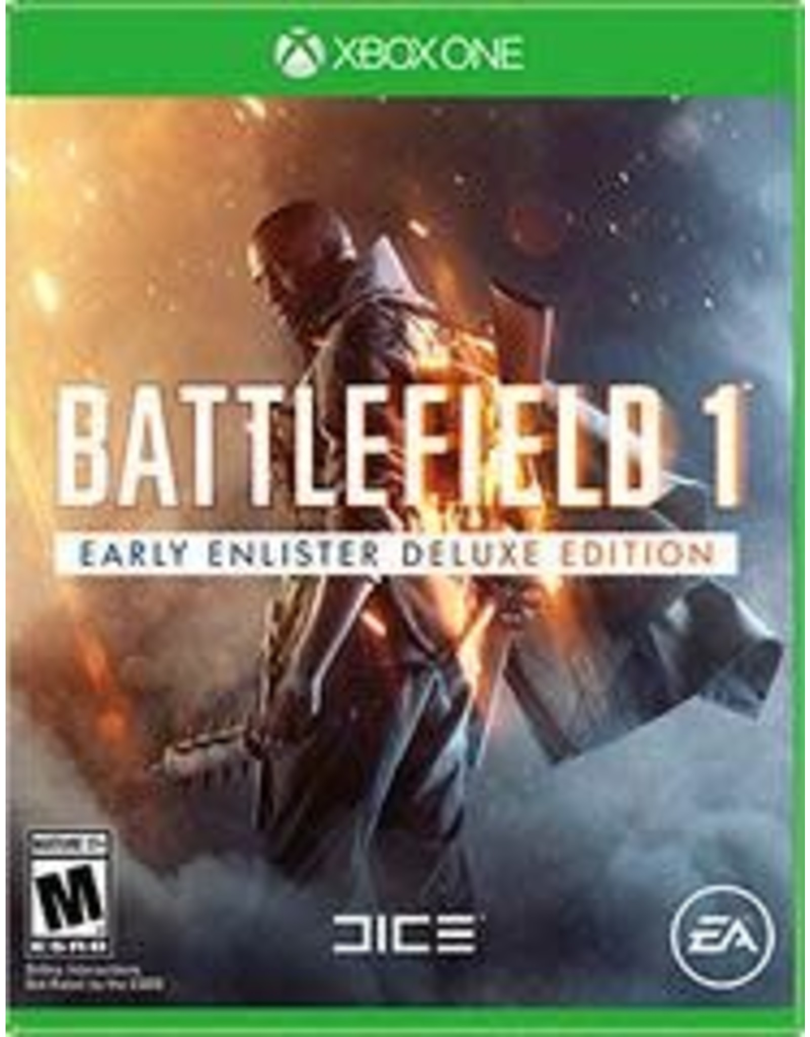 Xbox One Battlefield 1 Early Enlister Deluxe Edition (Used, No DLC)