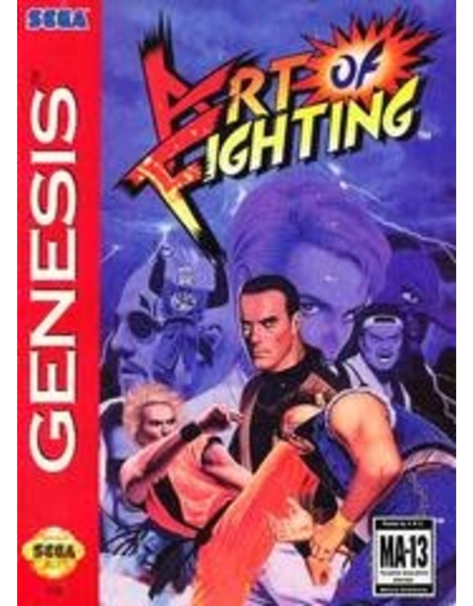 Sega Genesis Art of Fighting (Cart, Manual, Cut Box)