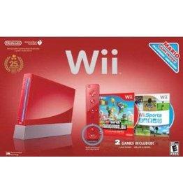 Wii Red Mario 25th Anniversary Nintendo Wii System (CiB)