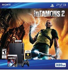 Playstation 3 PS3 Playstation 3 Slim System 320GB Infamous 2 Bundle (CiB, Used)