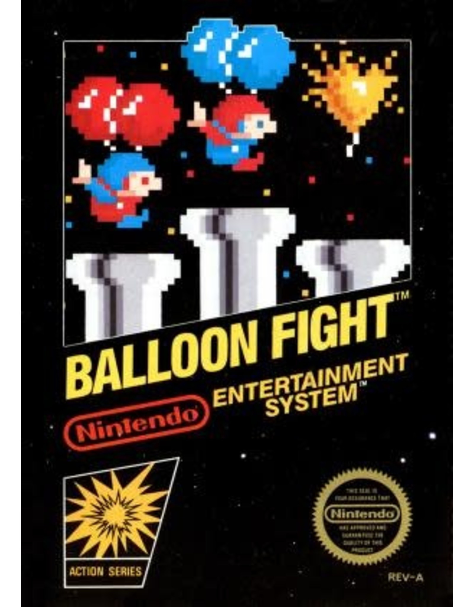 NES Balloon Fight [5 Screw] (Cart Only, Minor Damaged Label)