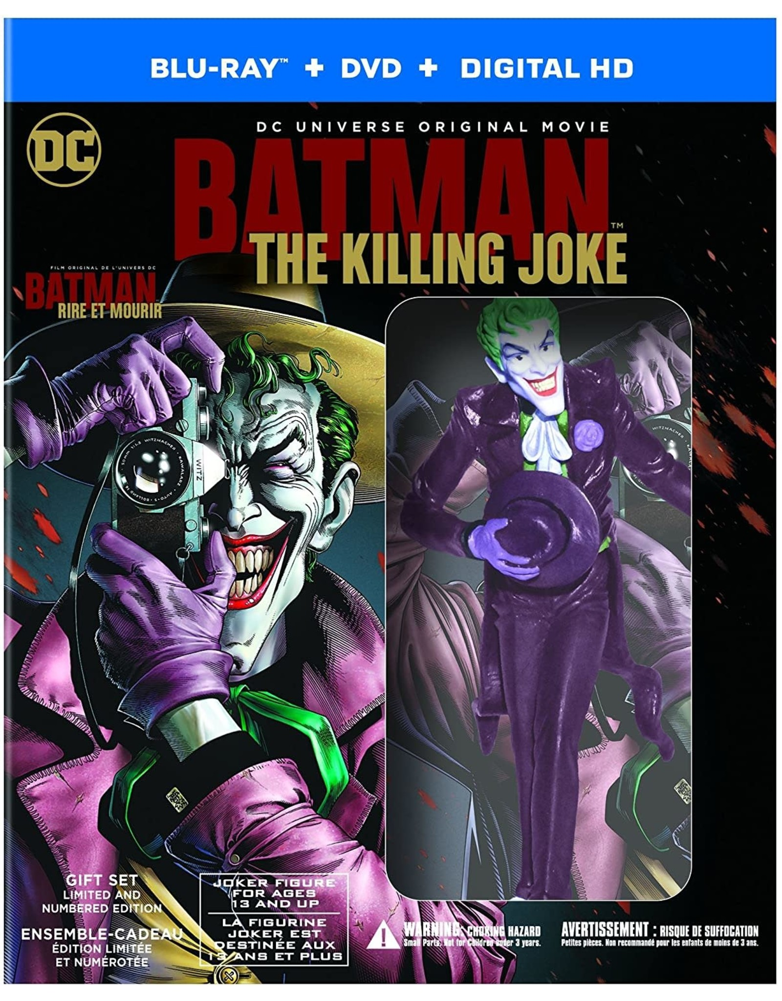 Cult and Cool Batman The Killing Joke Deluxe Edition w/ Figurine