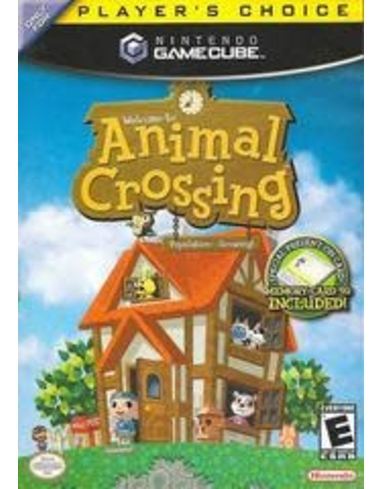 Gamecube Animal Crossing (Player's Choice, No Manual, with Memory Card)