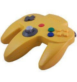 Nintendo 64 N64 Yellow Controller (Blue Back, Used)