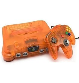 Nintendo 64 Funtastic Fire Orange Nintendo 64 Console (Includes Expansion Pak, New Gamecube Style Controller Joy Stick, Cracks in Shell, Minor Damage to Reset Button)