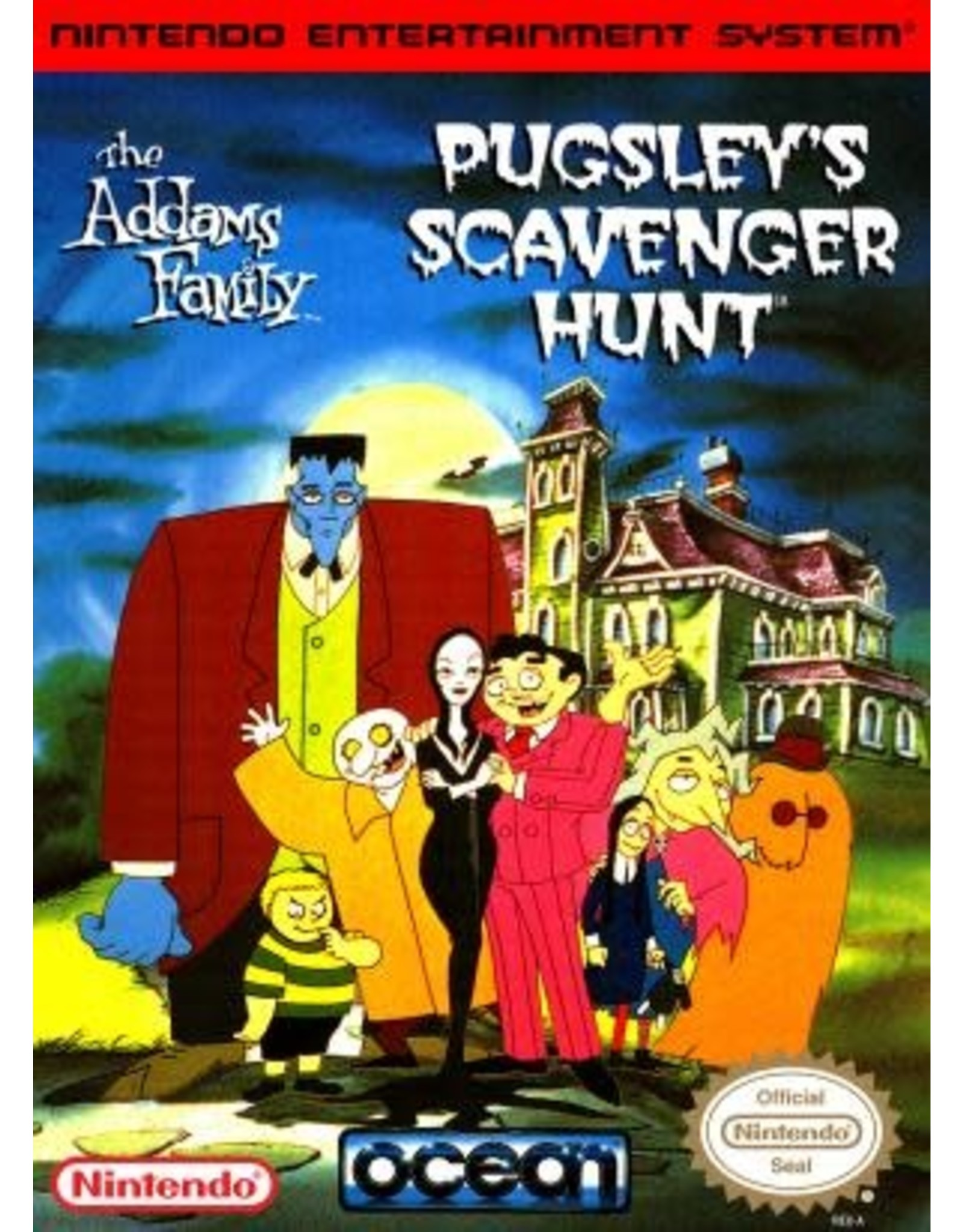NES Addams Family Pugsley's Scavenger Hunt (Cart Only)