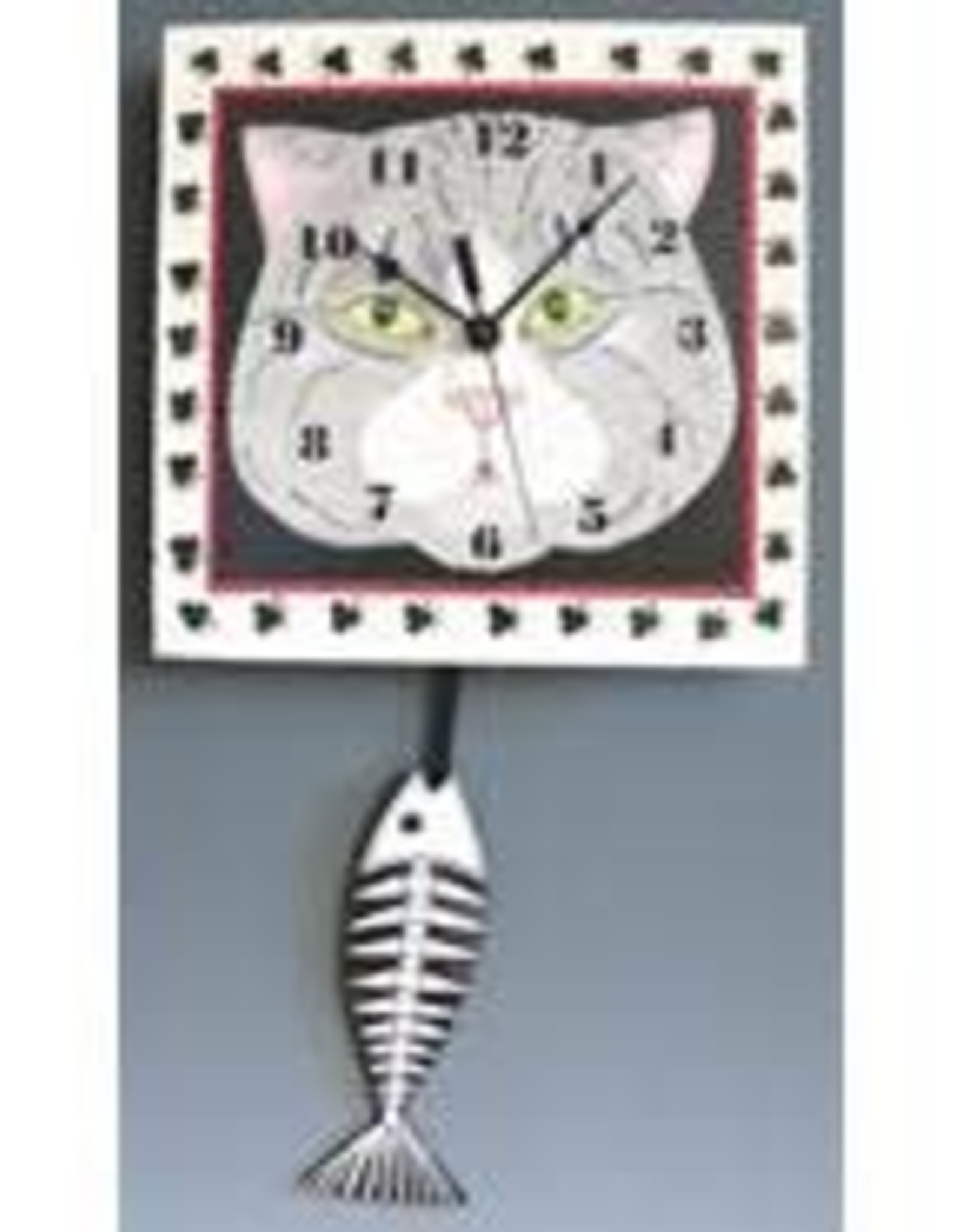 Cat Face Clock